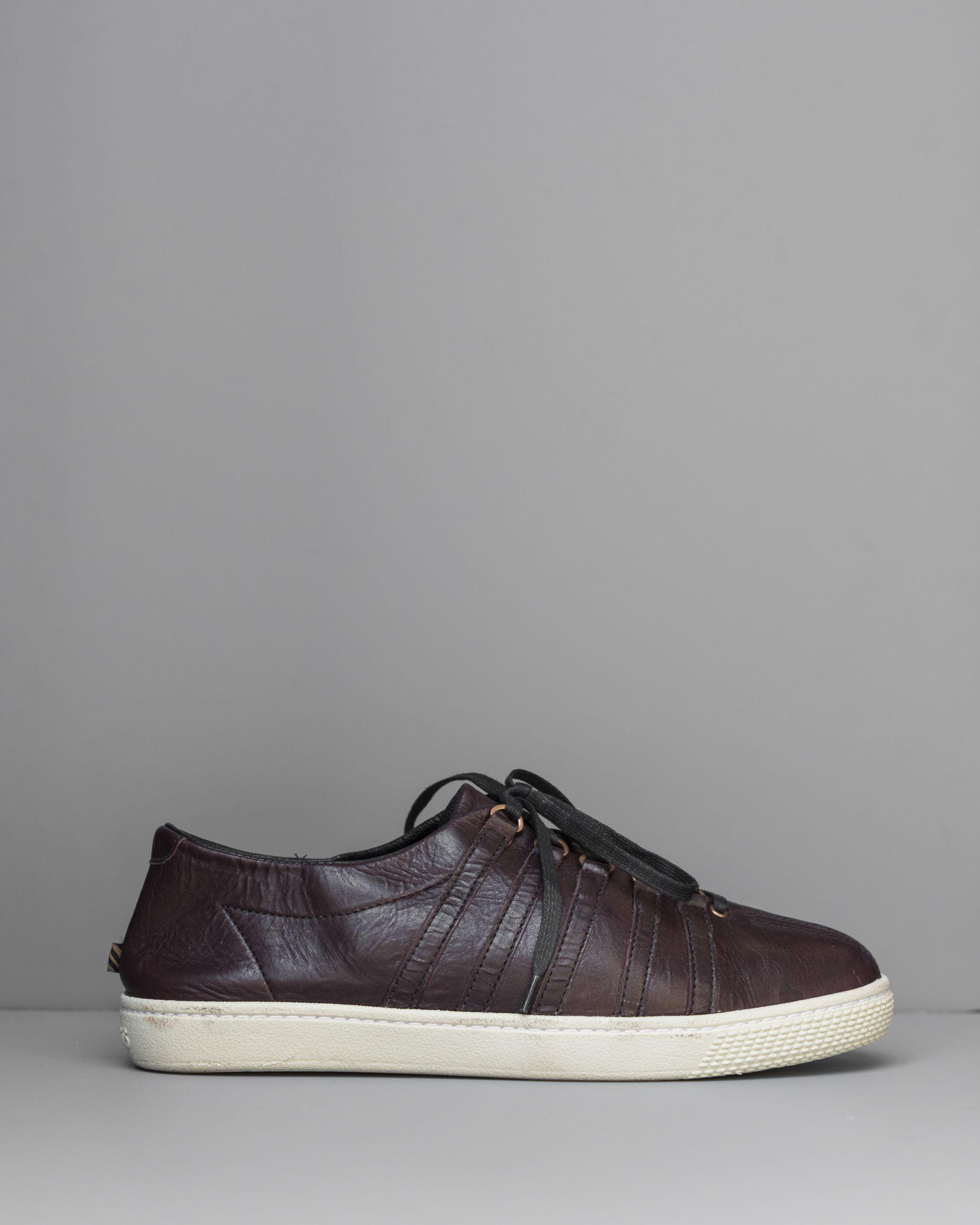 BILLY REID Leather Low Trainers 8h8Ap