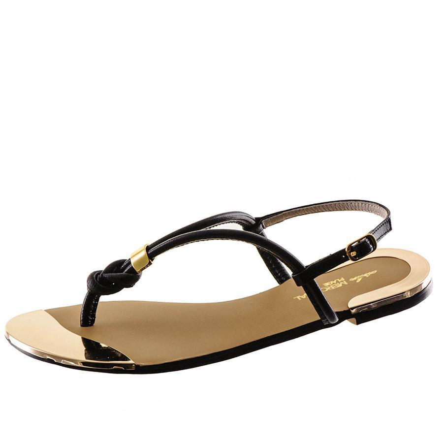 Black Co Uk Women S Leather T Bar Sandals