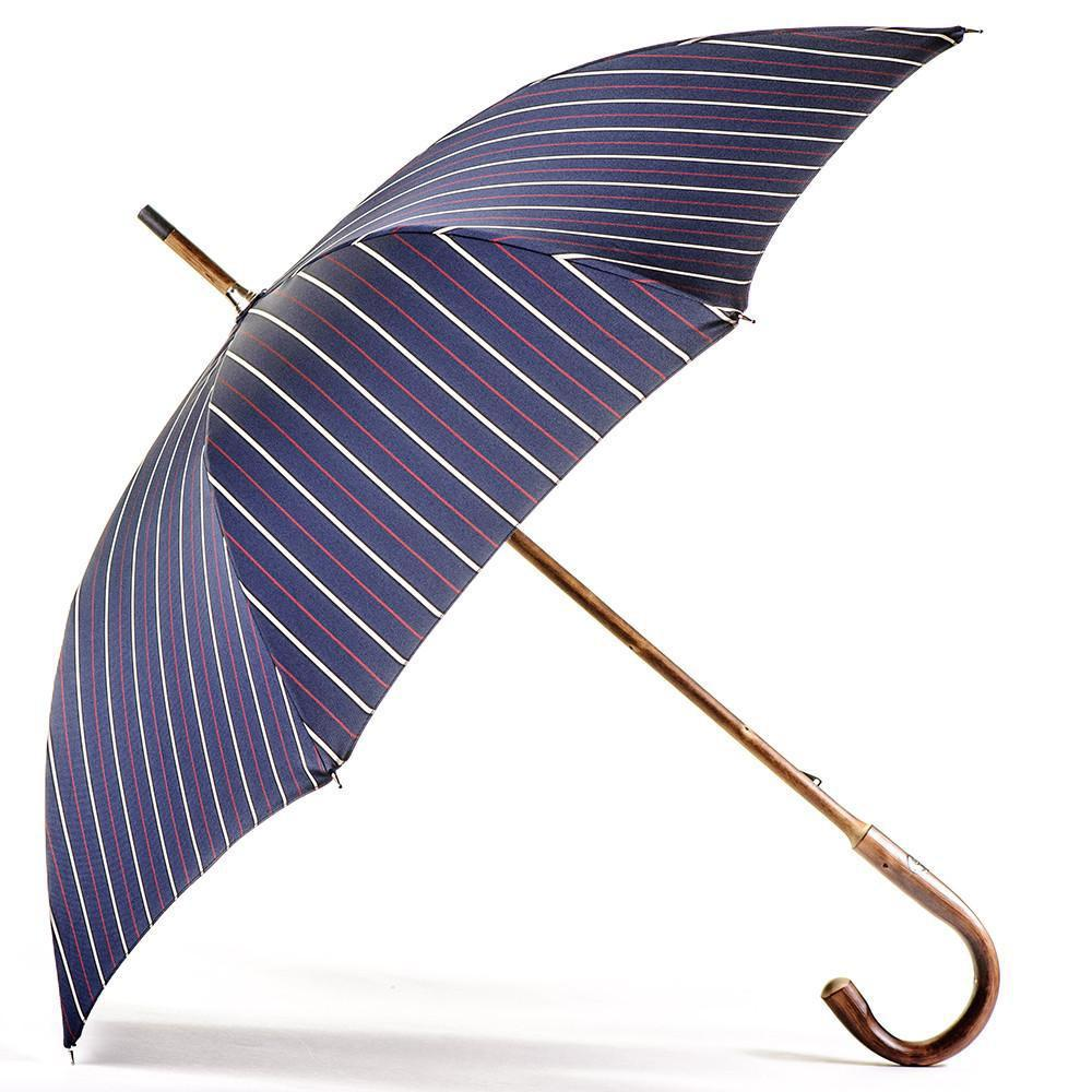 lyst black co uk navy red and white stripe luxury umbrella in blue. Black Bedroom Furniture Sets. Home Design Ideas