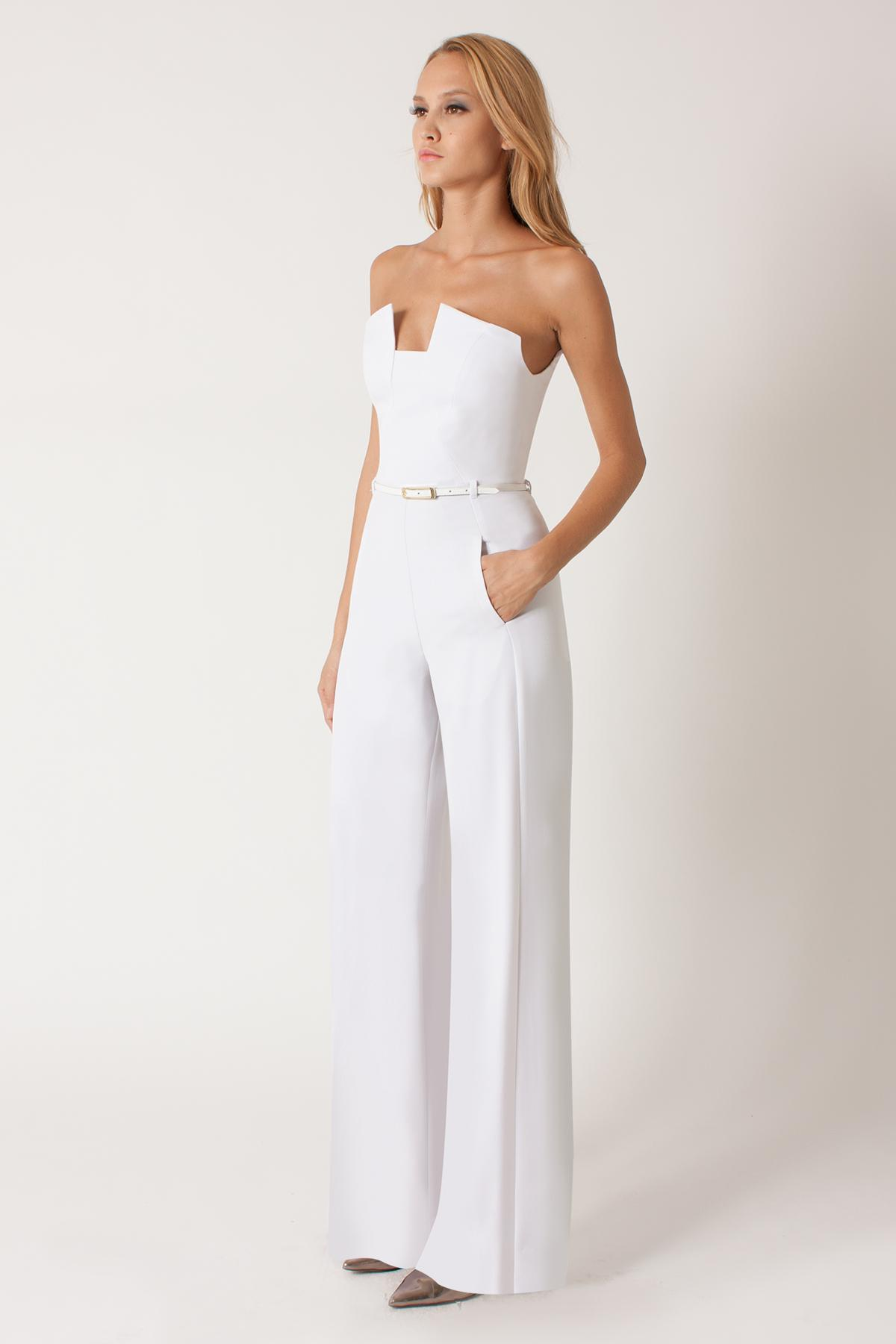 61cecfe2acf Lyst - Black Halo Lena Jumpsuit in White