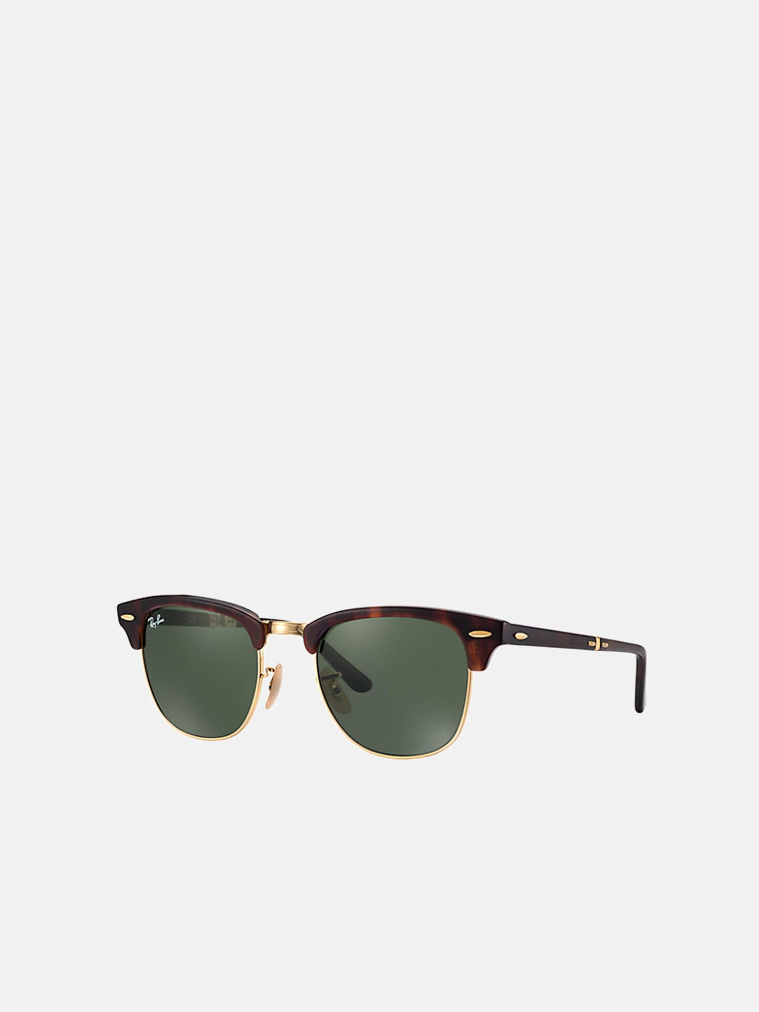 149bf911595cf Lyst - Ray-Ban Clubmaster Folding rb2176 990 51 in Green