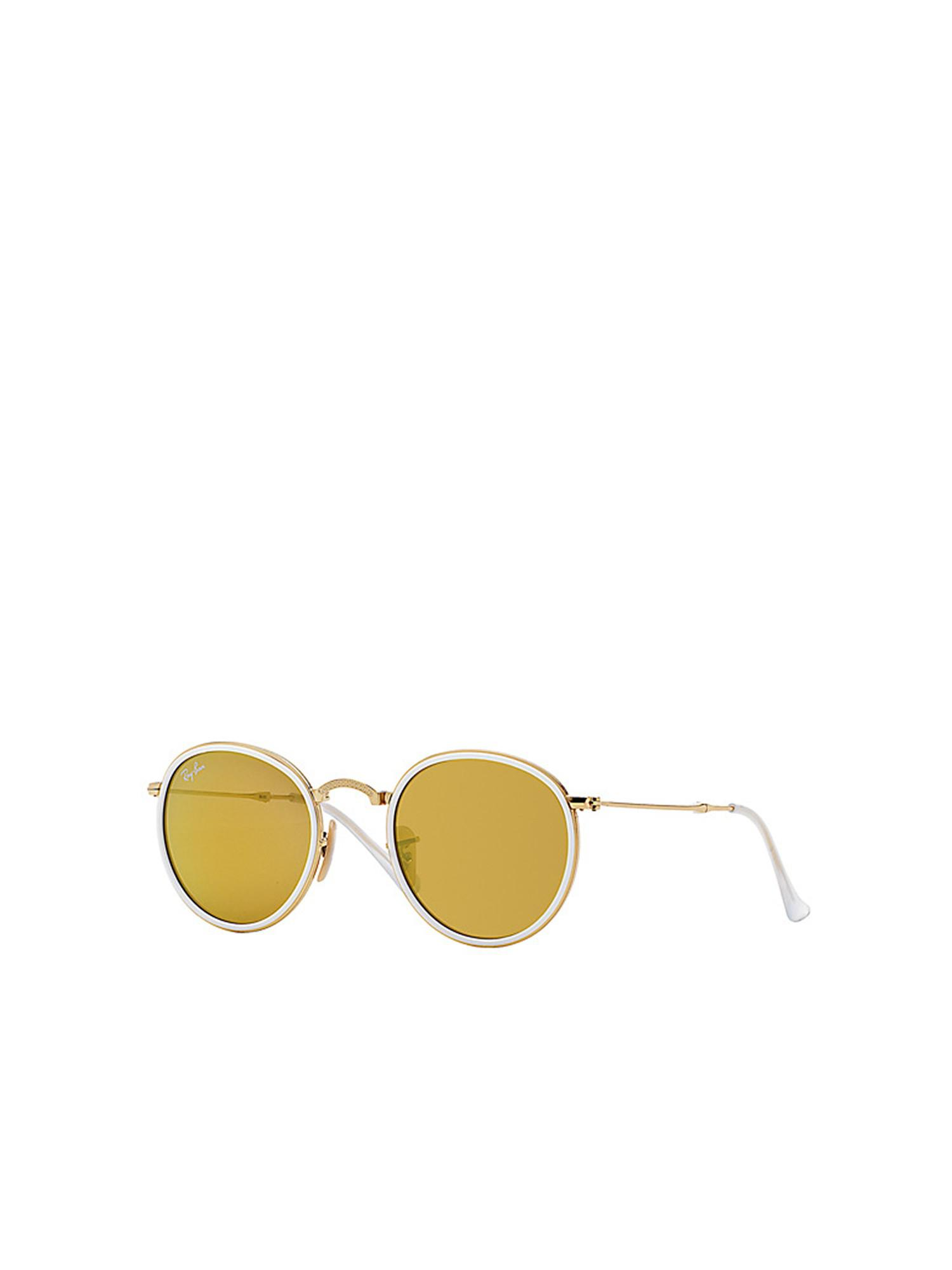 Lyst - Ray-Ban Round Folding rb3517 001 93 51 in Yellow 7c1aa86f54