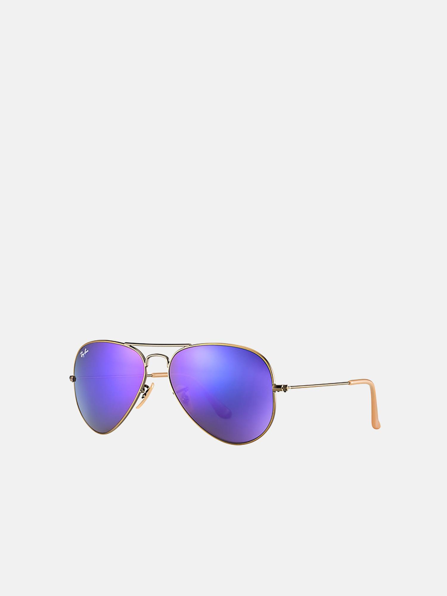 e89dbed2e5 Lyst - Ray-Ban Aviator Frame Sunglasses in Purple - Save 12%