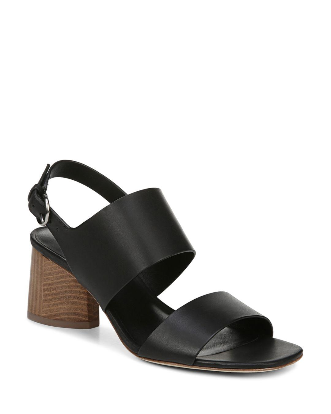8bc618e5dd29 Via Spiga Women s Libby Block Heel Sandals in Black - Lyst