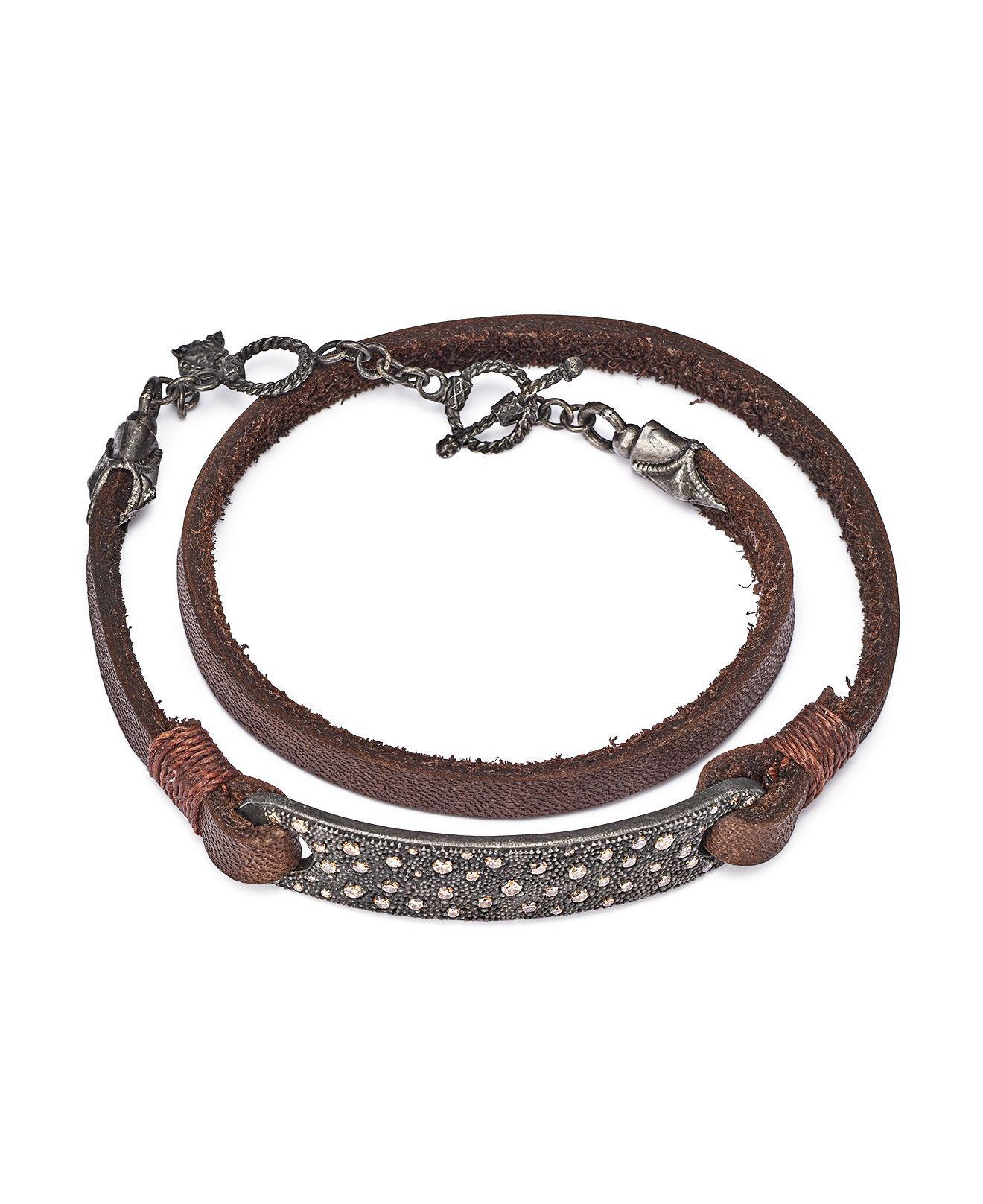 Armenta Old World Midnight Leather Wrap Bracelet c1NcCJKhOP