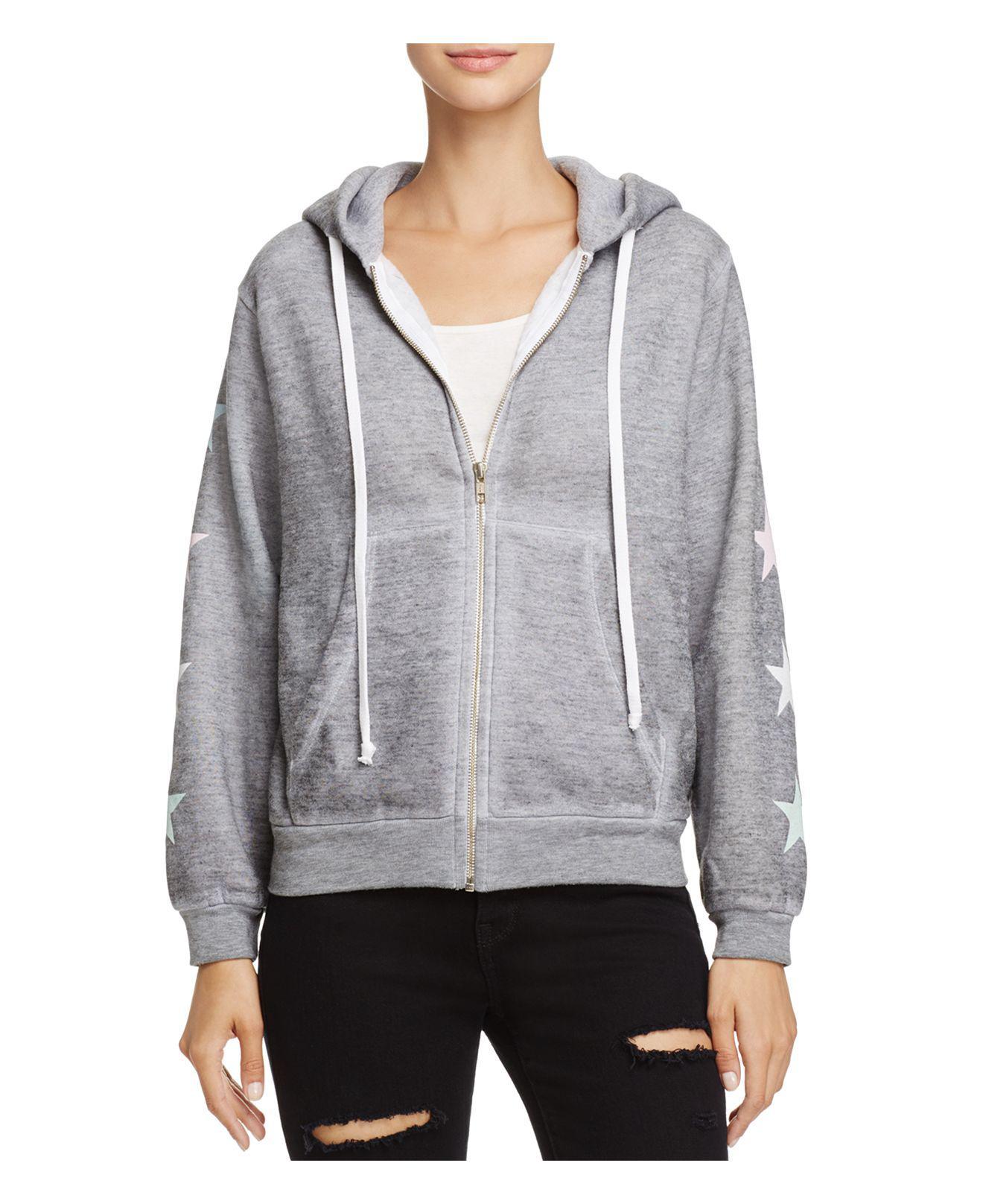 Wildfox. Women's Gray Starlight Regan Zip Hoodie