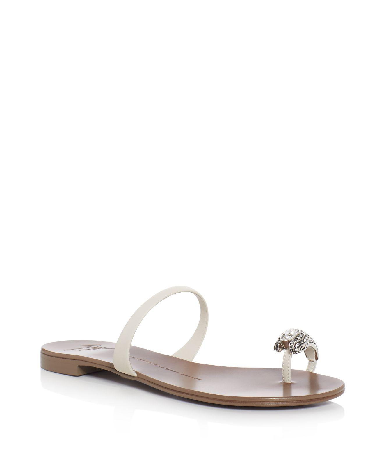 Giuseppe Zanotti Womens Toe Ring Slides