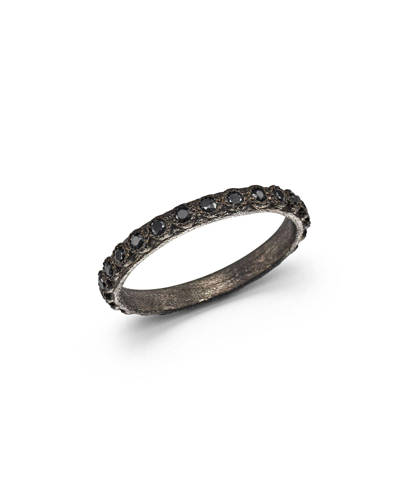 Armenta Old World Midnight Stacking Ring with Pear-Cut Black Sapphires hngHoe