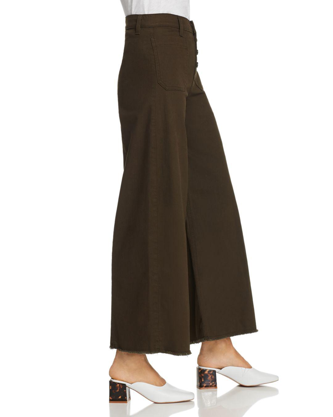 Elizabeth and James Denim Carmine Wide-leg Jeans In Combat in Brown