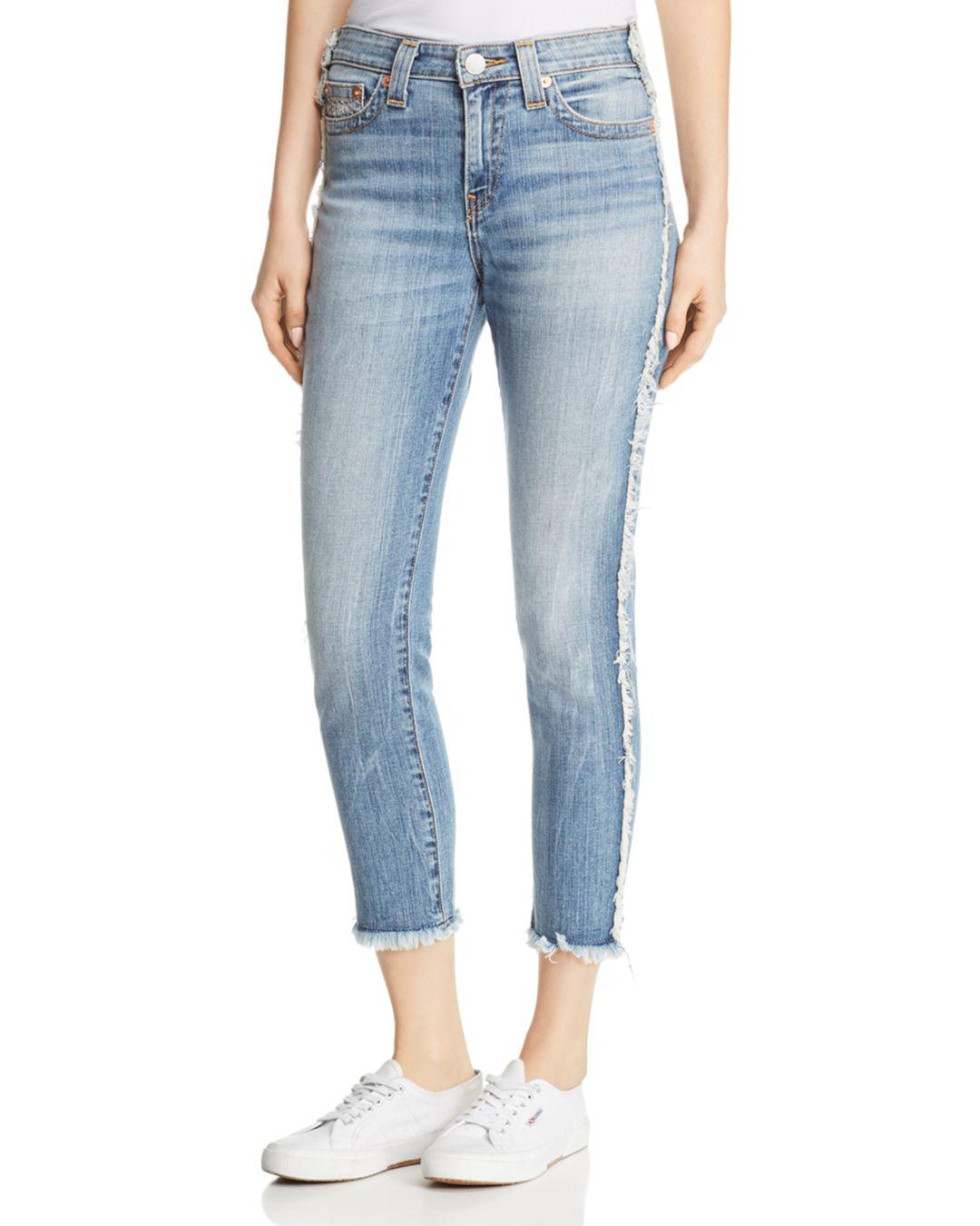 d47918a7d True Religion. Women s Blue Colette High-rise Tapered Skinny Jeans ...