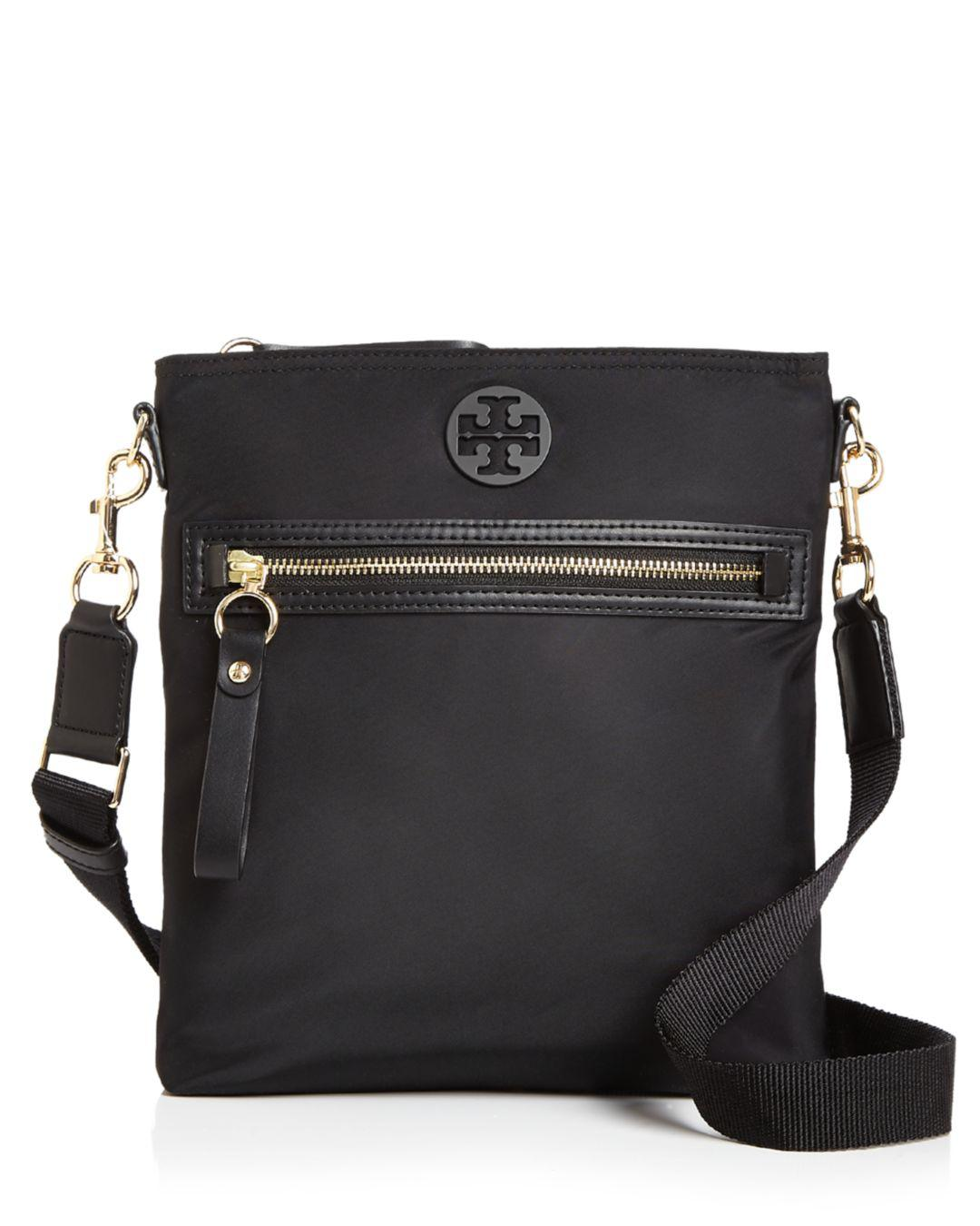 6357dacafb9 Tory Burch Tilda Nylon Swing Pack Crossbody in Black - Lyst