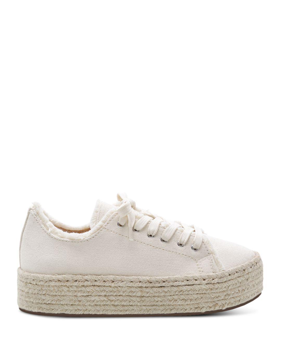 b415083eb5d7 Lyst - Schutz Women s Luana Espadrille Lace-up Sneakers in White