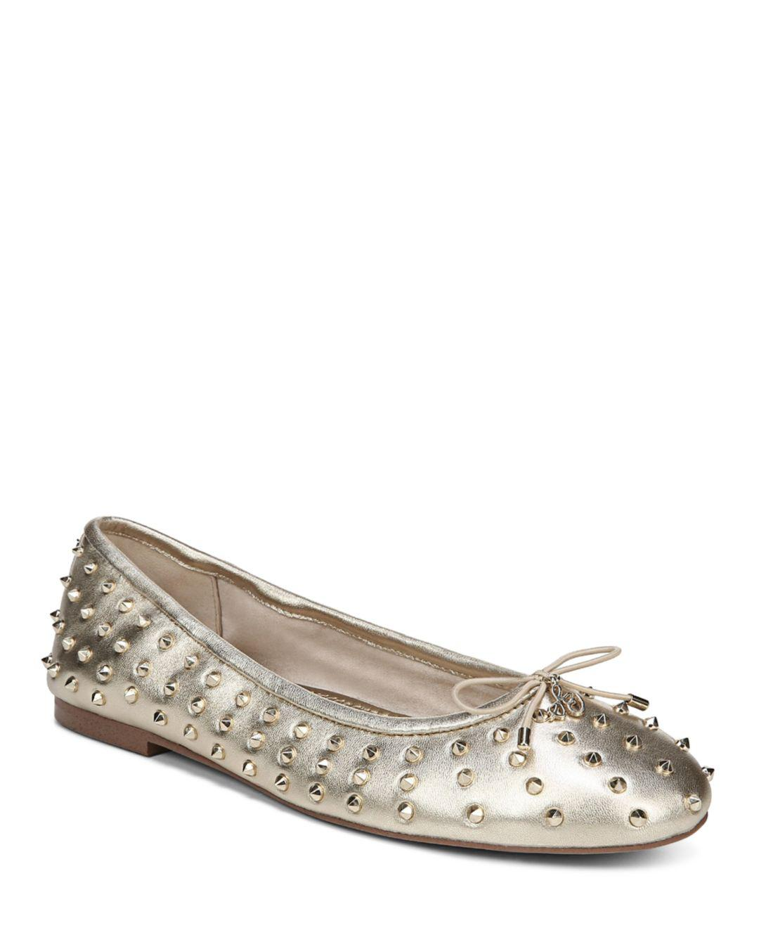 4c01e6088c9e Lyst - Sam Edelman Women s Fanley Studded Leather Ballet Flats in ...
