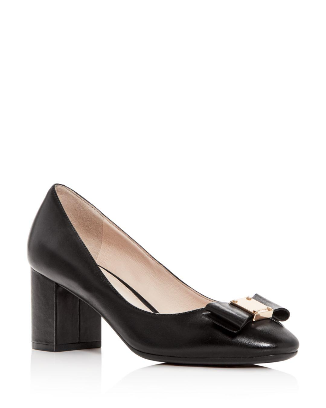 33783b79040 Lyst - Cole Haan Tali Bow Pumps in Black - Save 60%