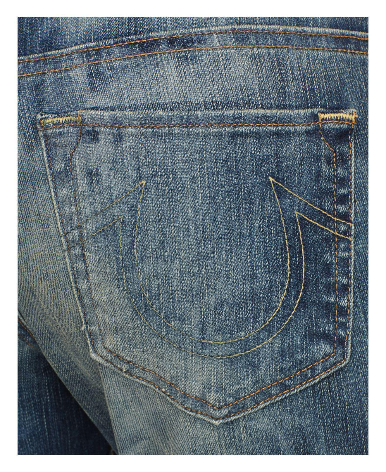 True Religion Denim Cameron Boyfriend Jeans In Distillery in Blue