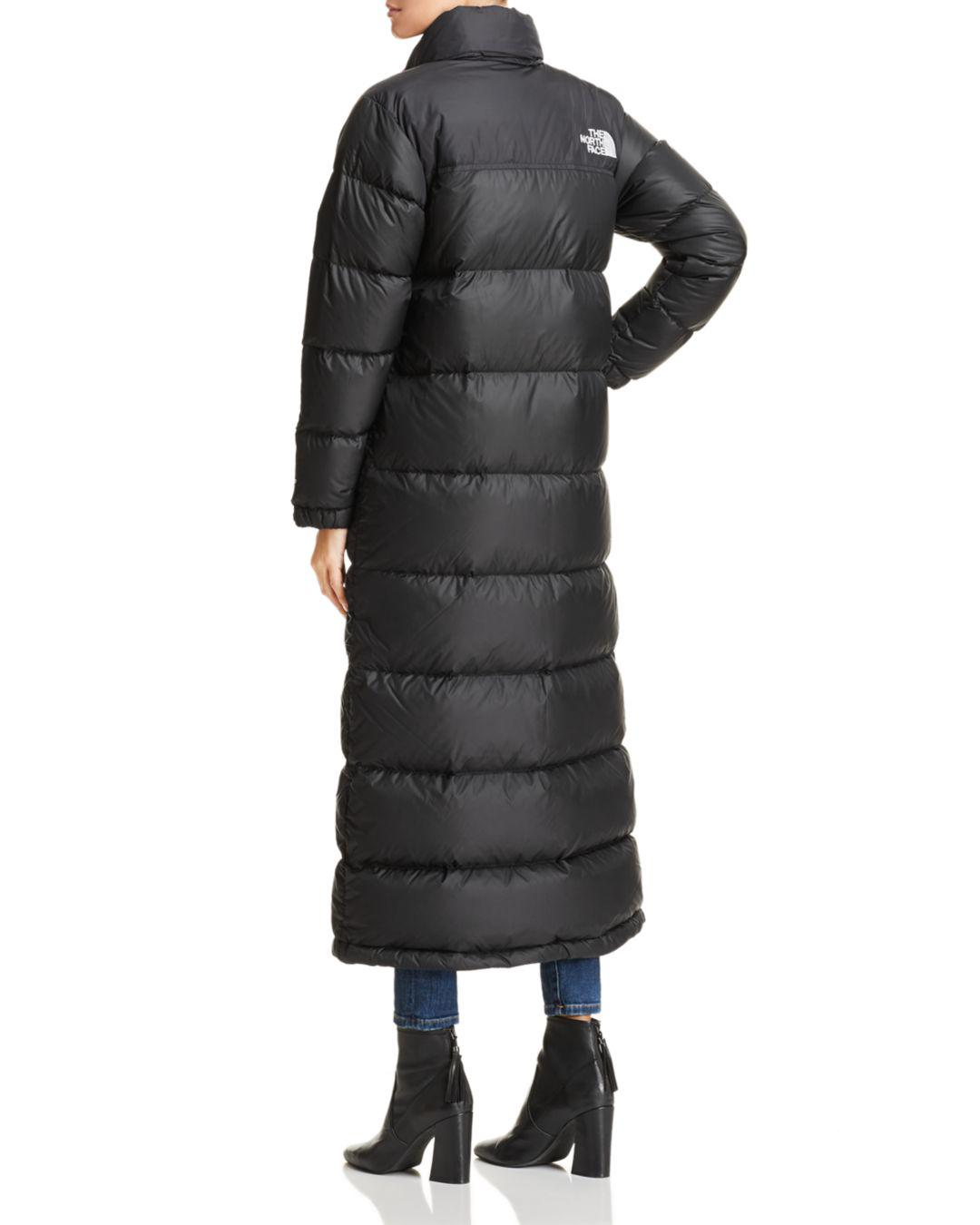 Lyst - The North Face Nuptse Duster Down Jacket in Black c232d6111