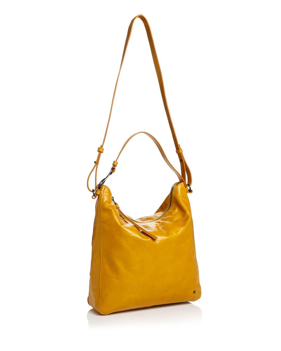 9cd37a251f Lyst - Halston Elsa Convertible Leather Shoulder Bag in Yellow