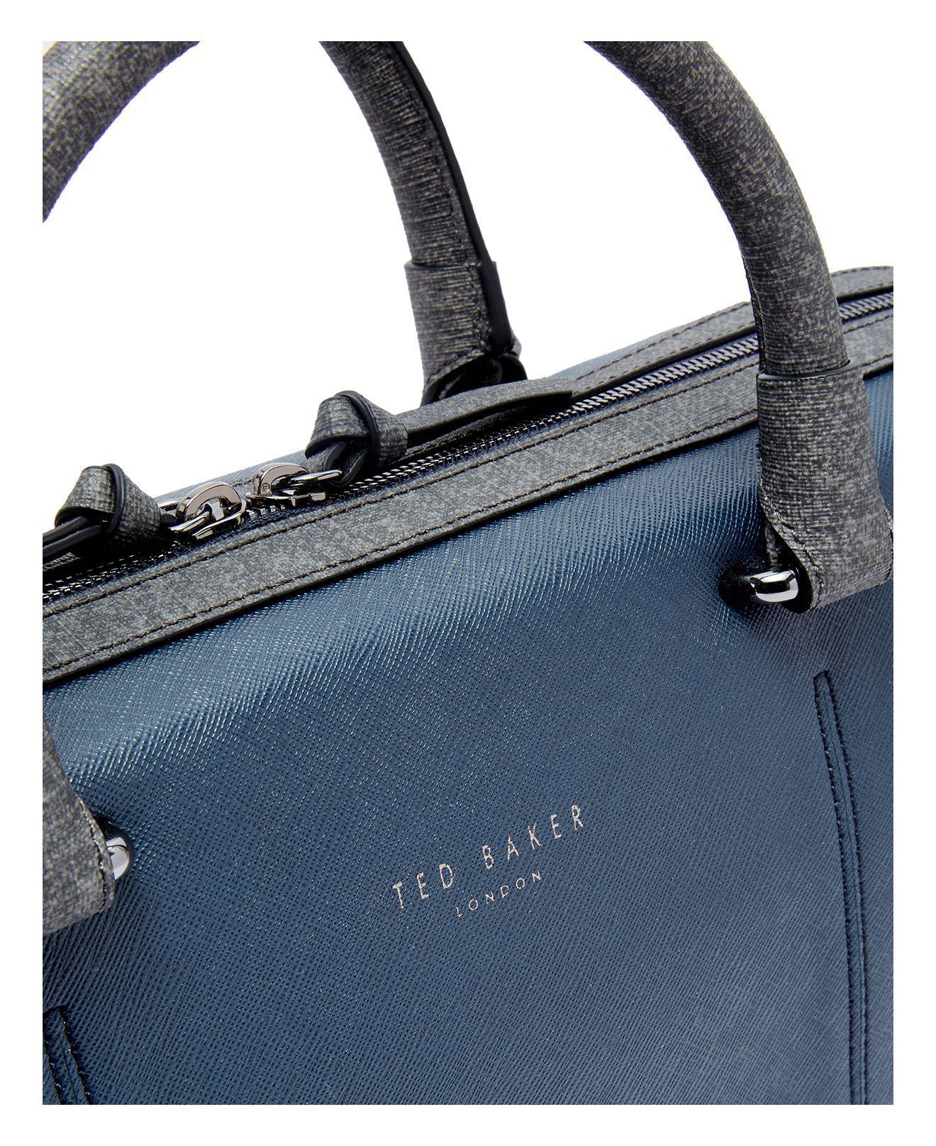 Lyst - Ted Baker Pounce Crossgrain Document Bag in Blue for Men 3c76de26eefce