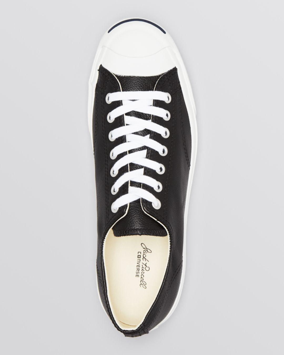 8042ca57982957 Lyst - Converse Men s Jack Purcell Leather Lace Up Sneakers in White for  Men - Save 43%