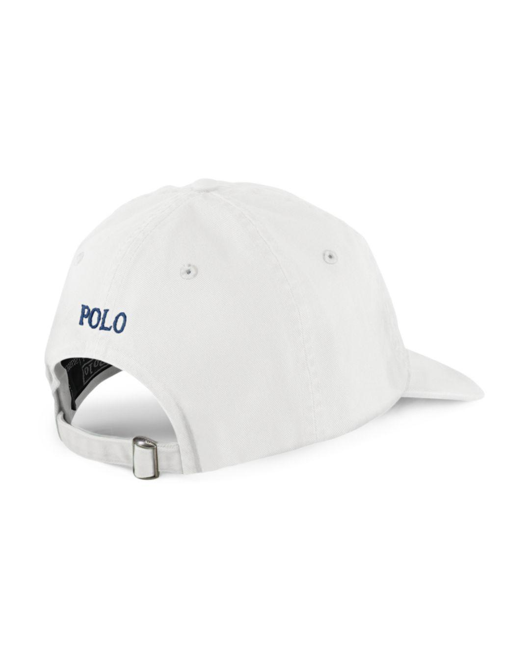 Lyst - Polo Ralph Lauren Signature Pony Hat in White for Men - Save 4% eaac2cc4cae2