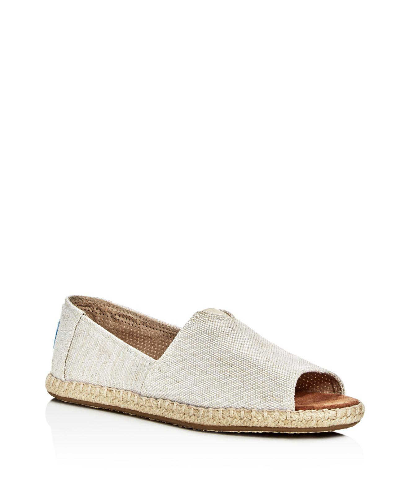 ff03763a77b Lyst - TOMS Women's Alpargata Open Toe Espadrille Flats in Natural