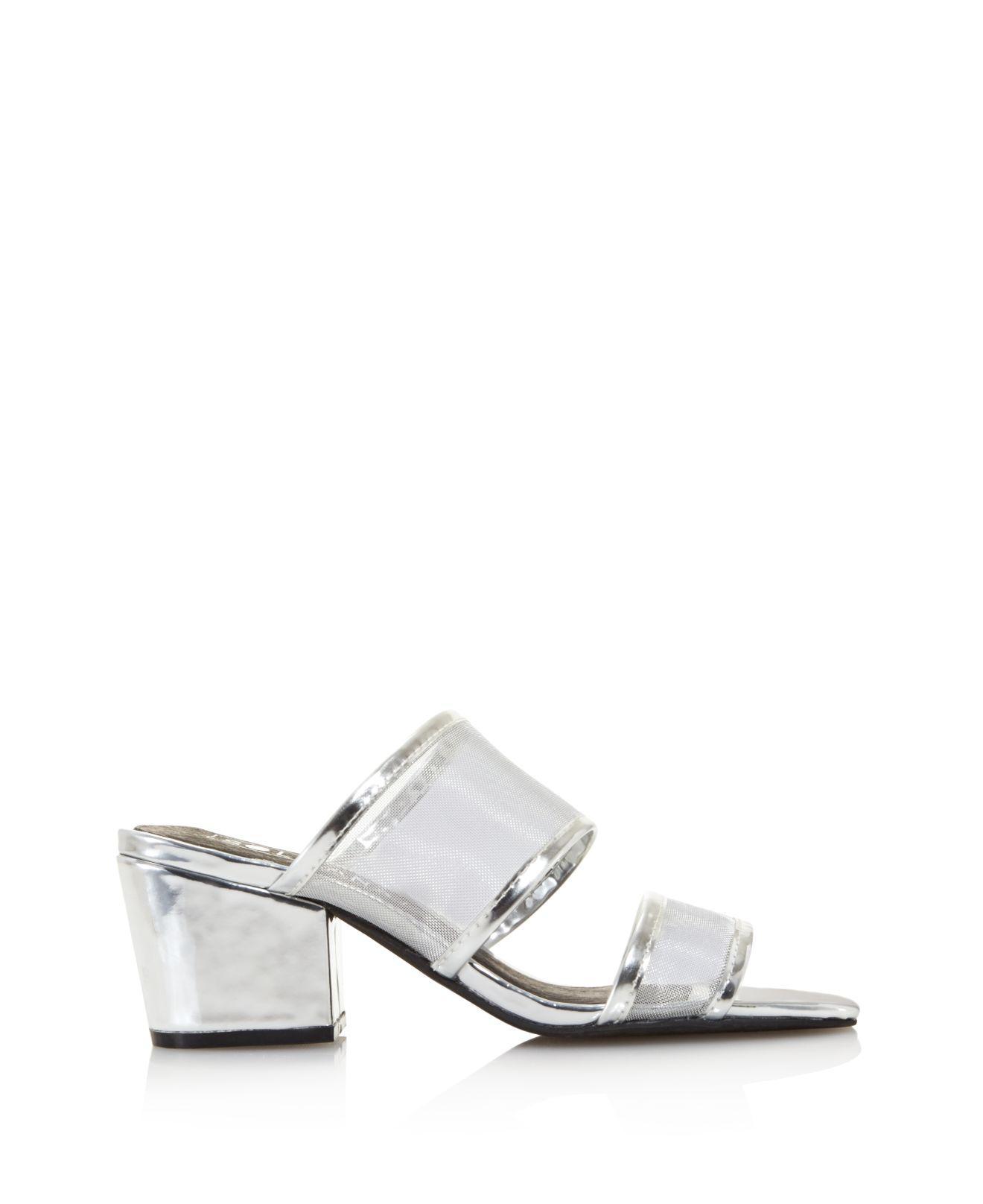 Sol Sana Women's Keira Leather & Mesh Block Heel Mules - 100% Exclusive nBXLSf5C9T