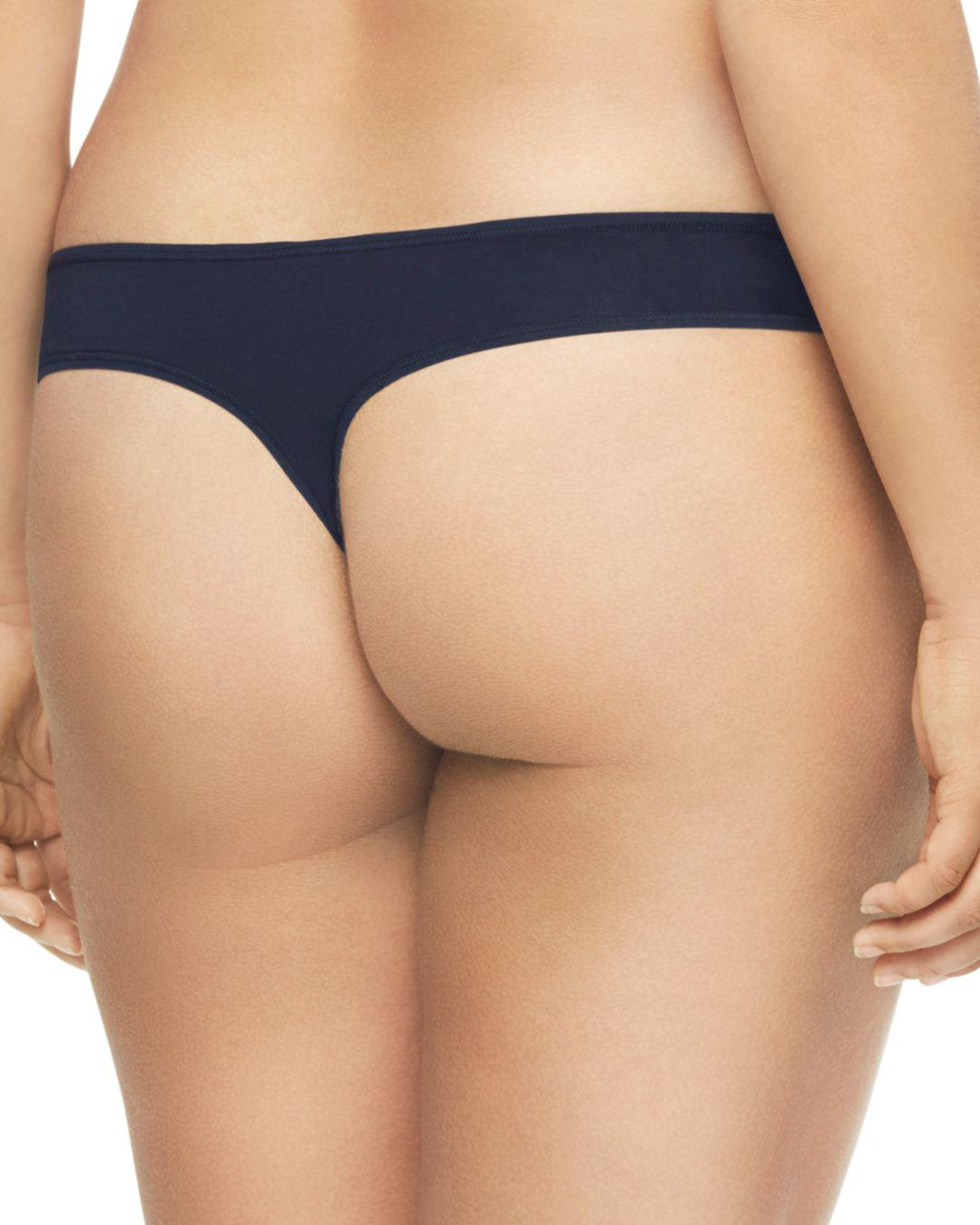 70b26fdd52 Lyst - Calvin Klein Plus Form Cotton Thong in Blue - Save 53%