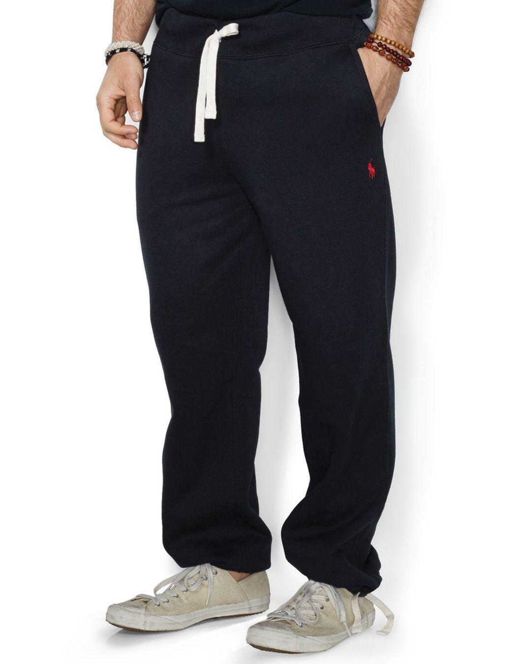 bce39e72e Polo Ralph Lauren Fleece Drawstring Sweatpants in Black for Men ...