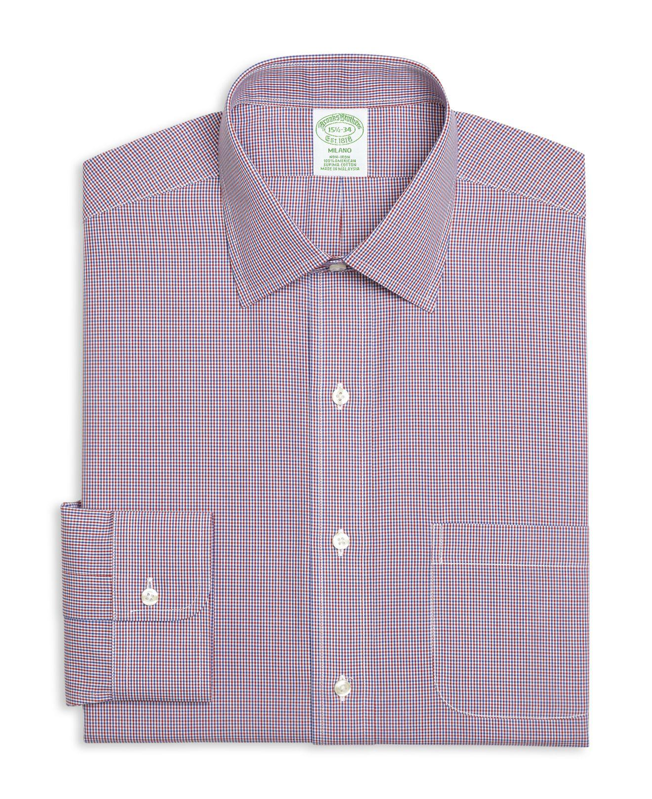 Lyst Brooks Brothers Micro Gingham Classic Fit Dress