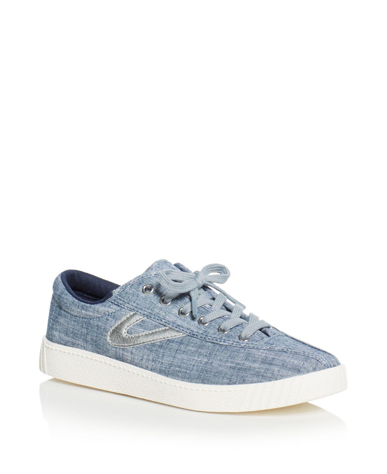 Cheap Latest Browse Cheap Online Tretorn NylitePlus Sneaker(Women's) -Vintage White/Green Denim Sale Release Dates Discount Wholesale Price Cheapest Price Cheap Online j7MIjh