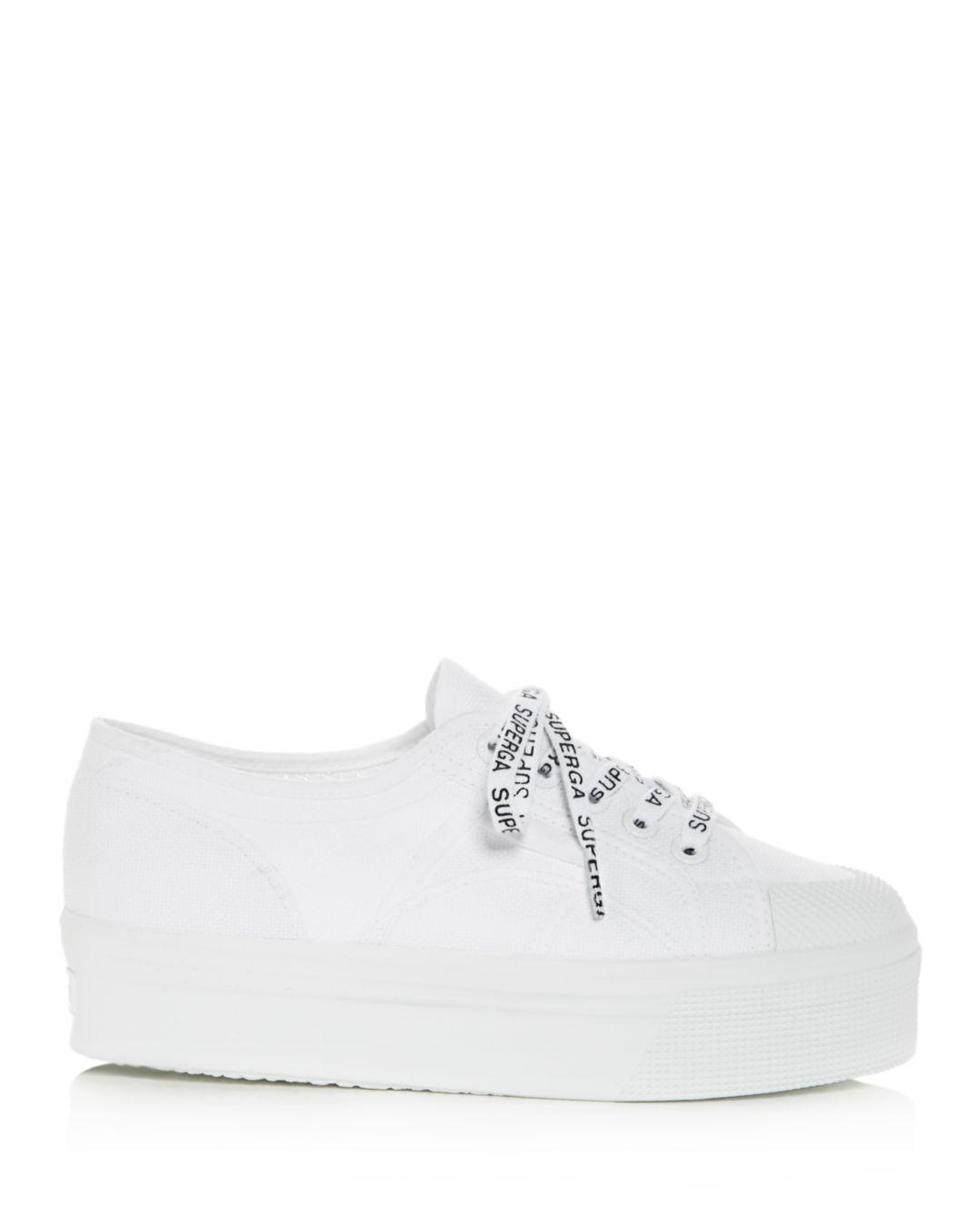 12a95708e9af Lyst - Superga Women s Cotu Classic Low-top Platform Sneakers in White