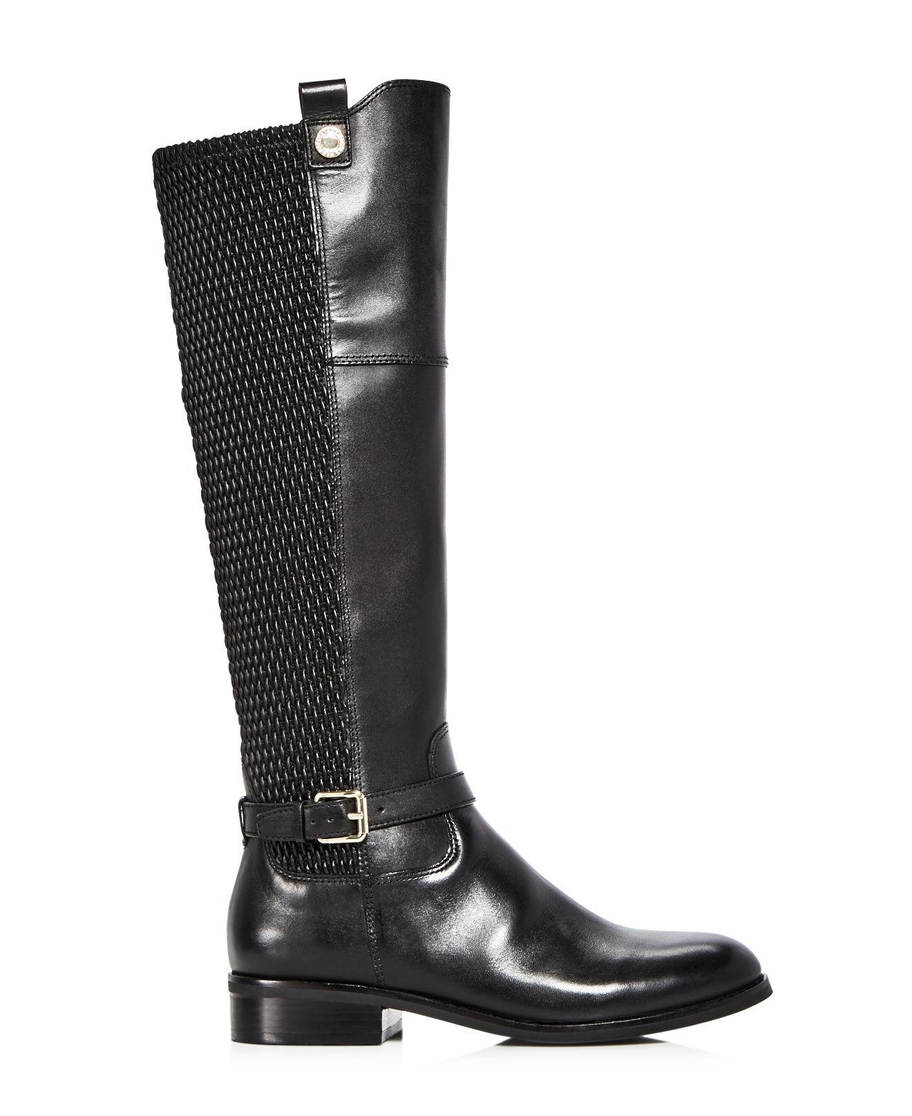 Lyst Cole Haan Women S Galina Leather Tall Boots In Black