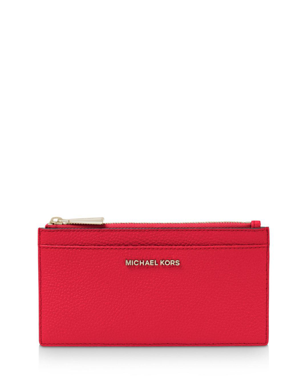 0402f418fc67 MICHAEL Michael Kors. Women s Red Money Pieces Large Slim Leather ...
