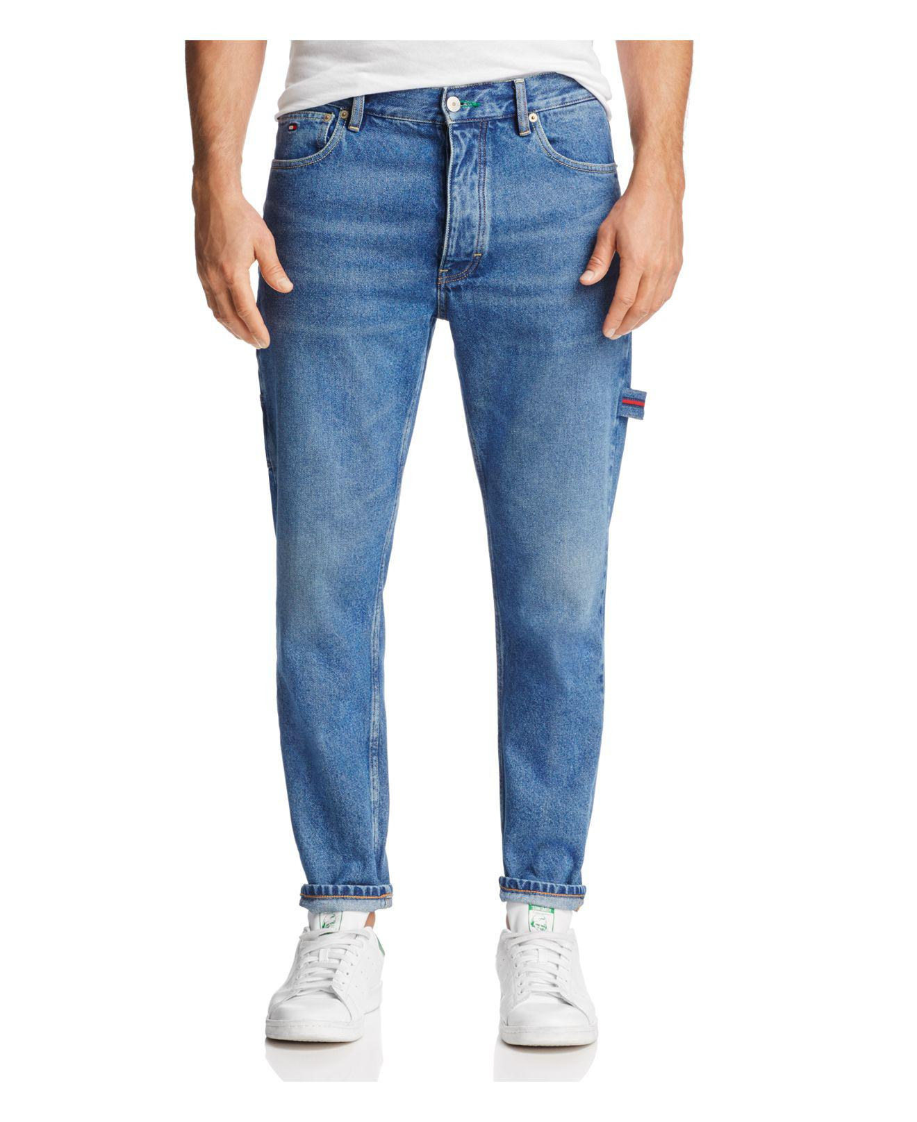 Lyst - Tommy Hilfiger Tapered Fit Carpenter Jeans In Dark Wash in ... 4286e472dc