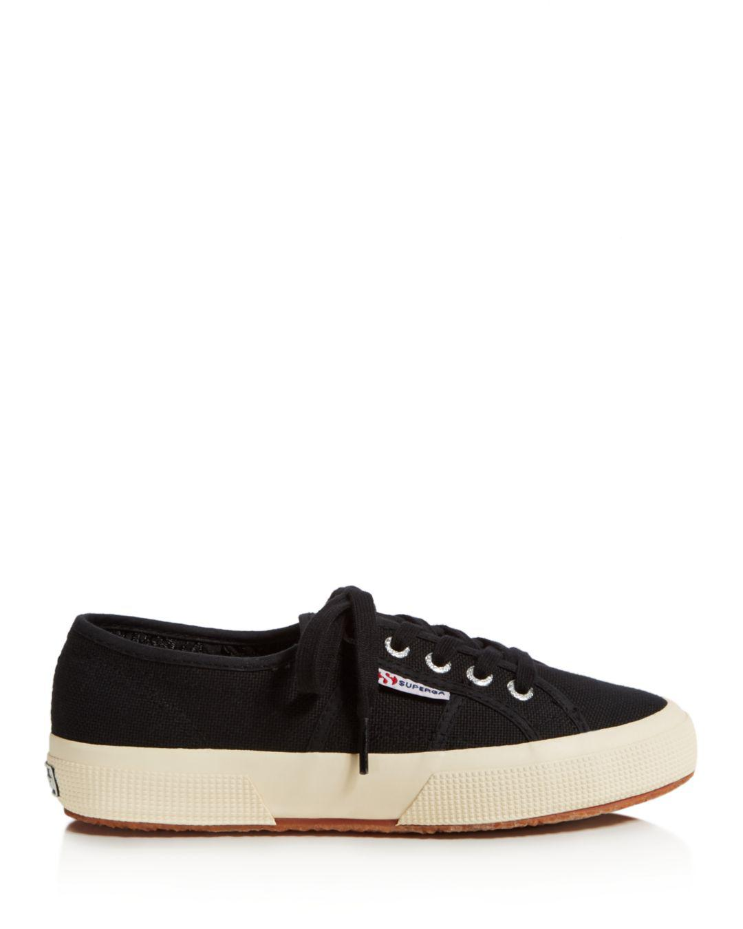 Superga Canvas Classic Lace Up Sneakers in Grey Sage (Grey)