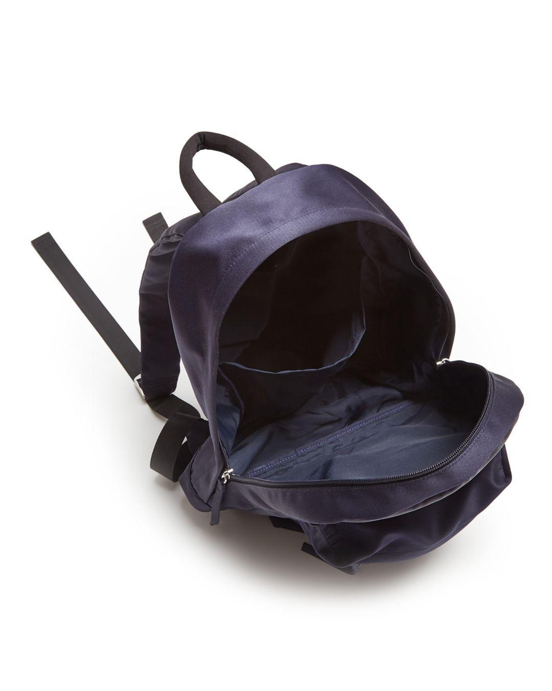 Elizabeth and James Satin Backpack in Black/Silver (Black)