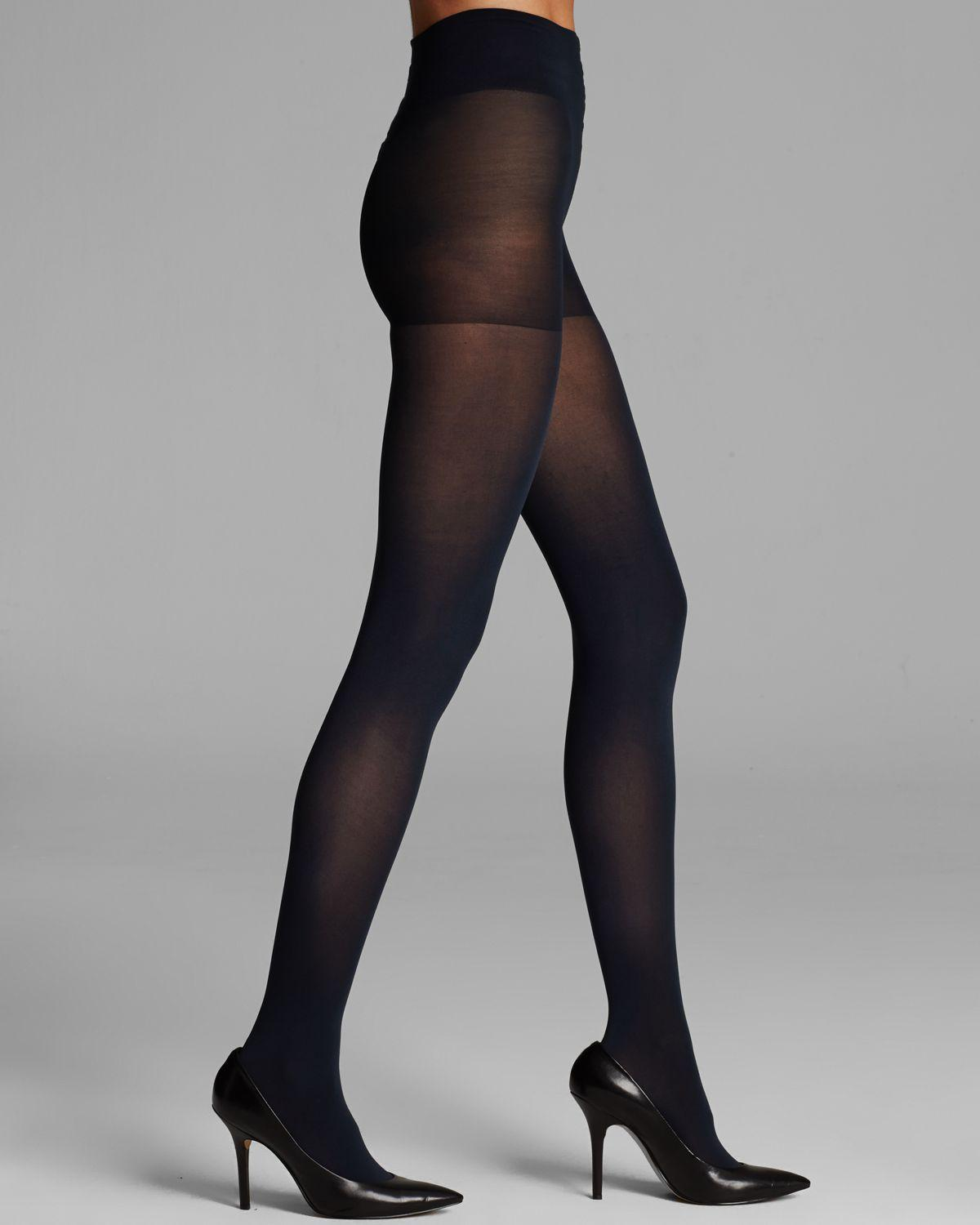fcc0c4e9c22 Lyst - DKNY Opaque Coverage Control Top Tights in Blue