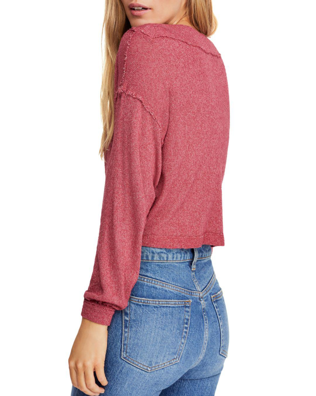 8c2ee342c11 Free People Stay With Me Boat-neck Top in Red - Lyst