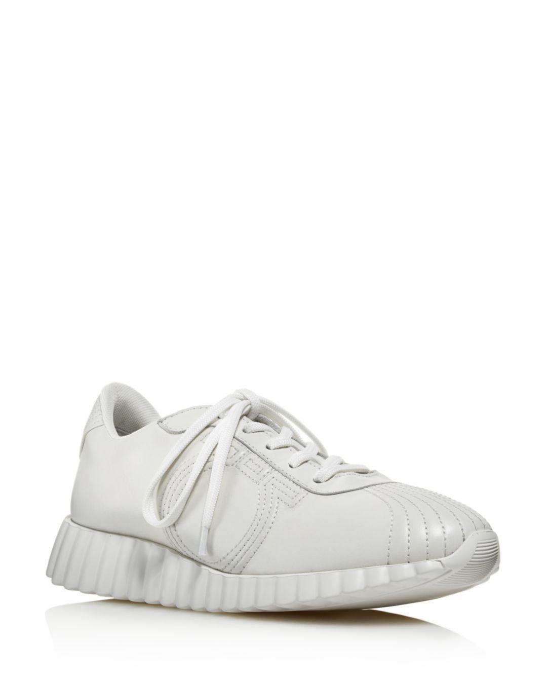 c57fef0c75 Lyst - Ferragamo Women s Gancini Leather Low-top Sneakers in White