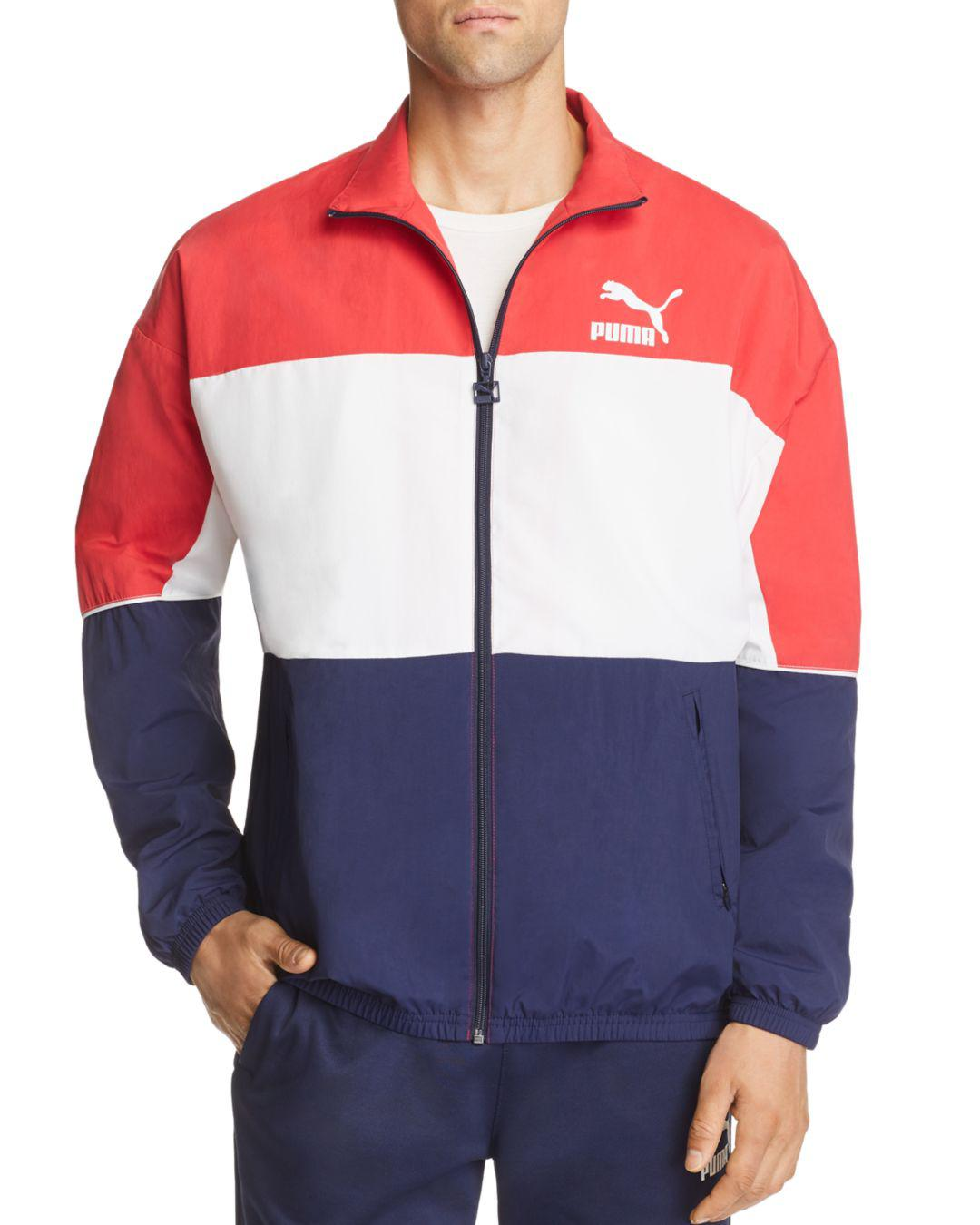 20a66ae42f69 PUMA Retro Color-block Track Jacket in Blue for Men - Save 48% - Lyst
