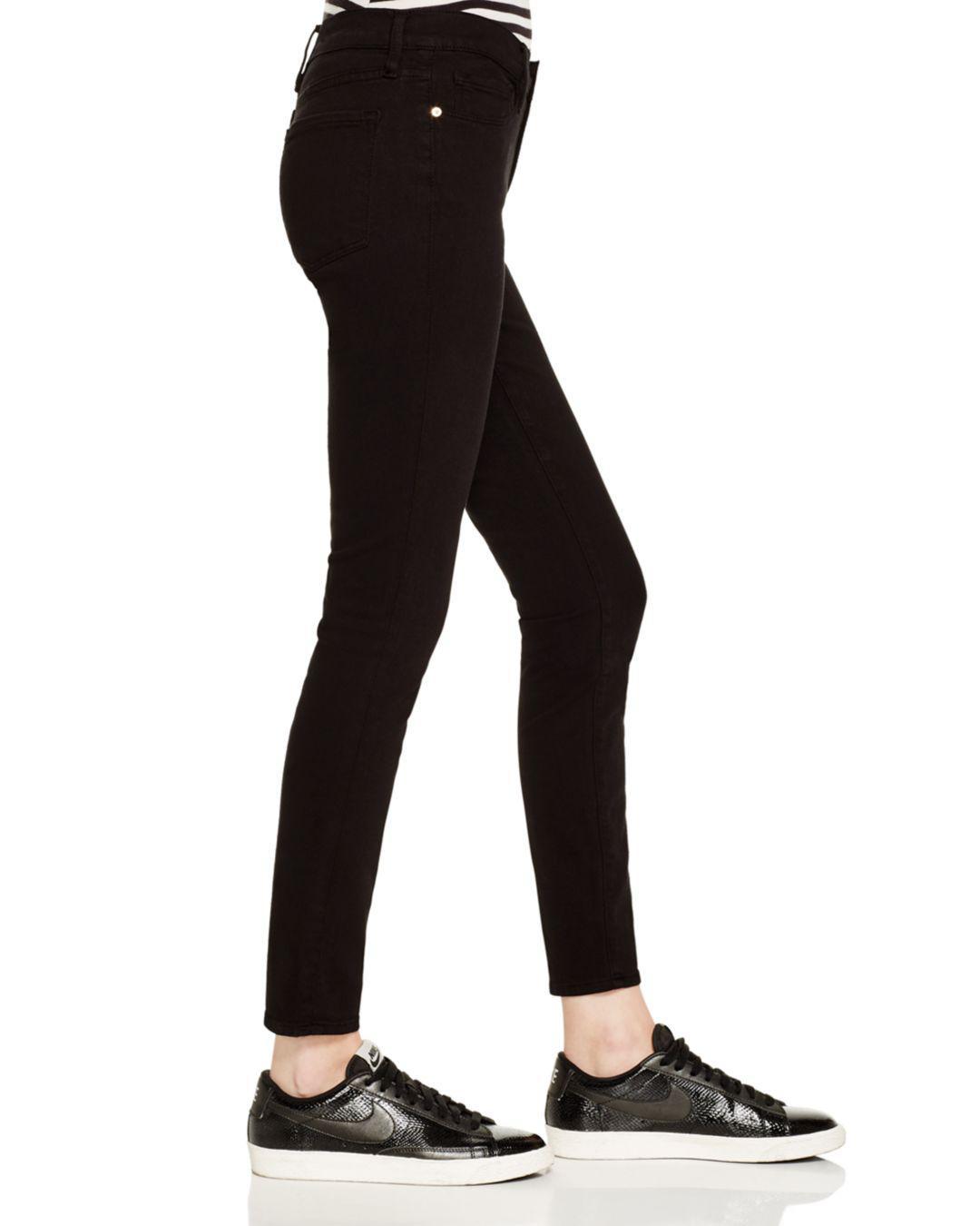 156e1185c0f9 FRAME - Black Le Color Skinny Jeans In Film Noir - Lyst. View fullscreen
