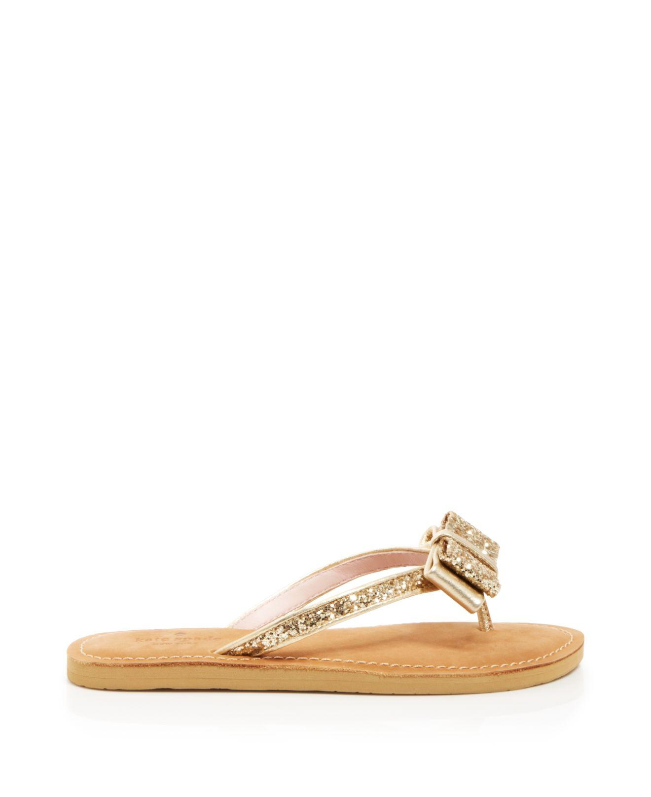 Lyst Kate Spade Flat Thong Sandals Icarda Glitter In