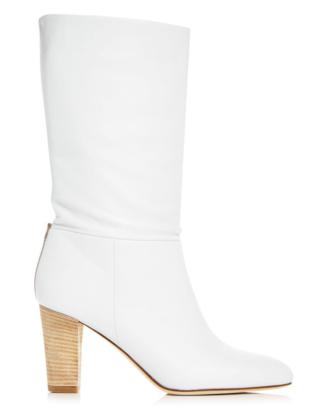038142ae1216 Lyst - SJP by Sarah Jessica Parker Women s Reign High-heel Boots in White -  Save 30%