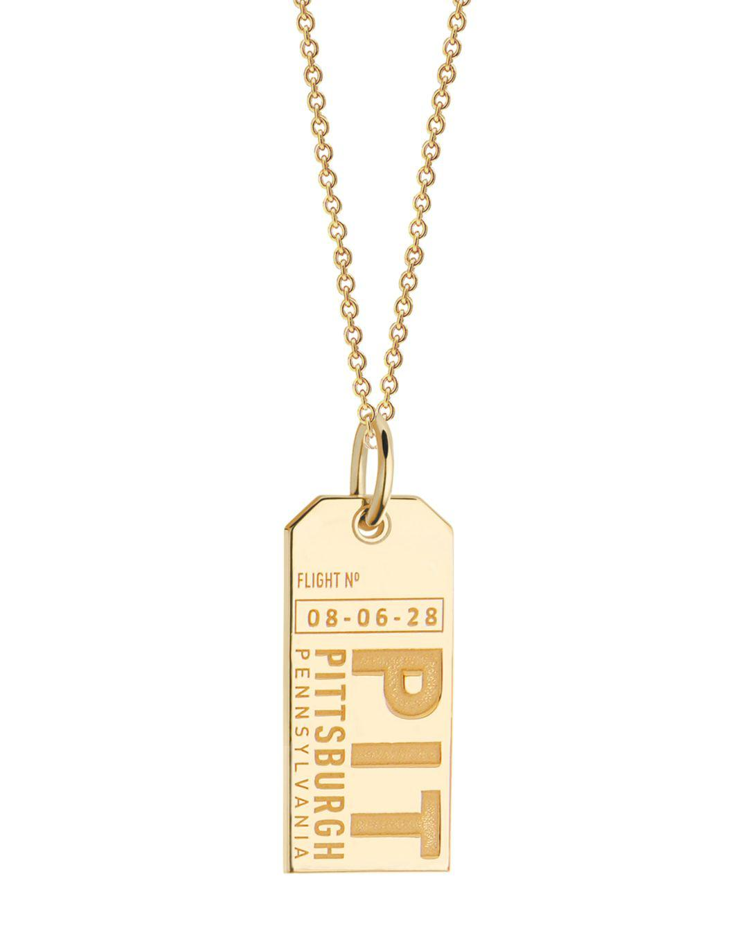 Jet Set Candy Pennsylvania Pit Luggage Tag Charm in Gold (Metallic)