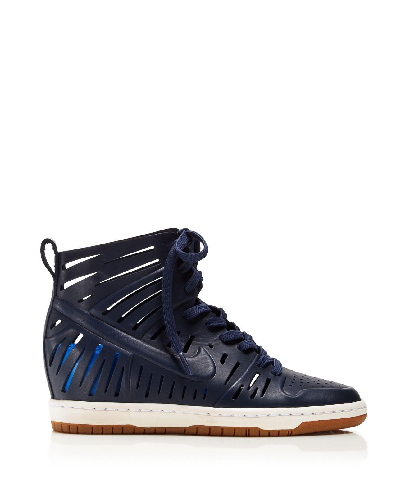 Lyst - Nike Lace Up Wedge Sneakers - Women's Dunk Sky Hi 2 ... Nike Fast Love Sky High Wedge Sneakers