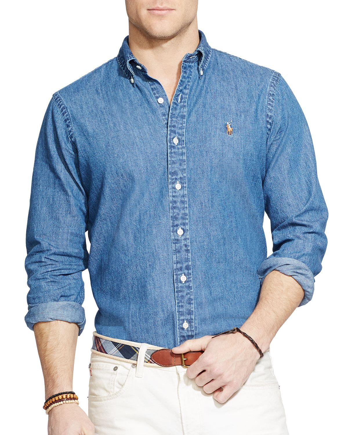 Polo ralph lauren Denim Button-down Shirt - Classic Fit in Blue for Men | Lyst