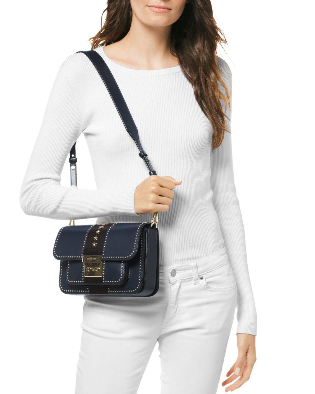 da0d7c5b6f84 MICHAEL Michael Kors Sloan Editor Large Shoulder Bag in Black - Lyst