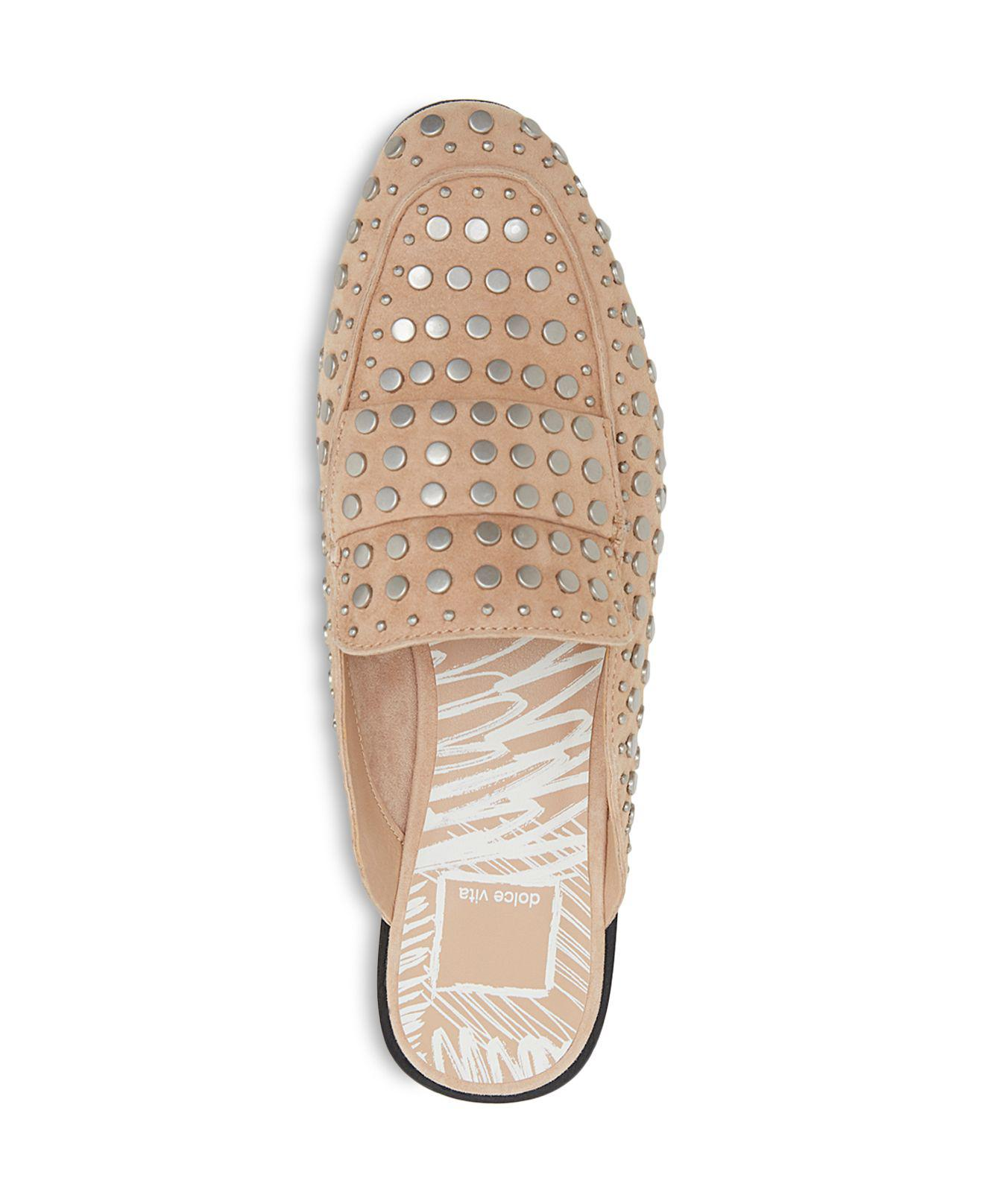 Dolce Vita Maura Suede Studded Mules Lyst