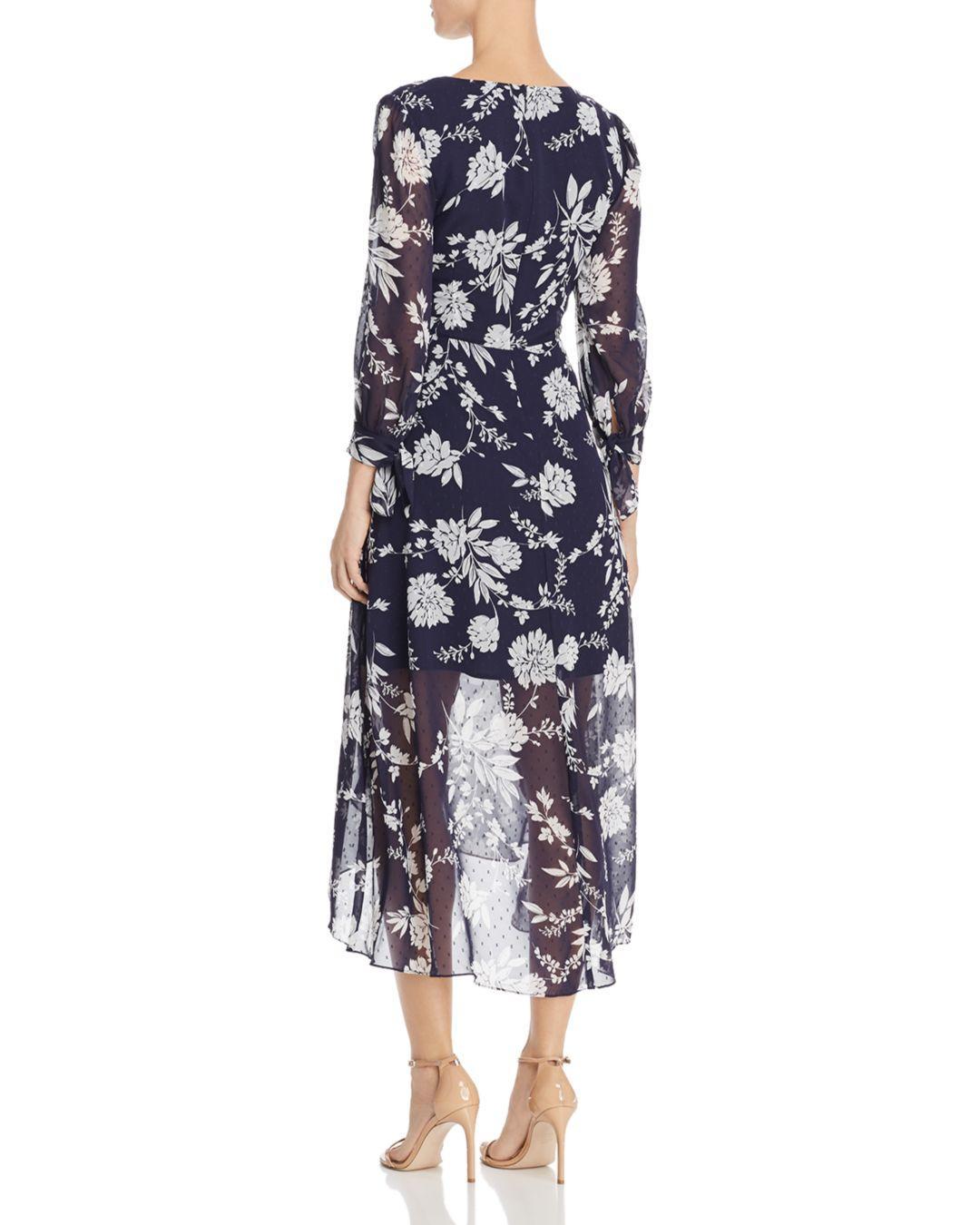c3afb1a7c36c Lyst - Eliza J Floral Faux-wrap Dress in Blue