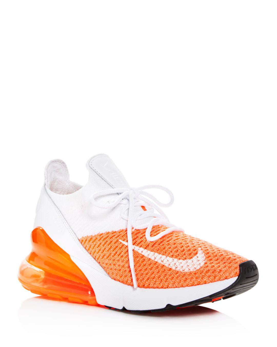 reputable site 76562 84951 Nike White Women's Air Max 270 Flyknit Lace Up Sneakers